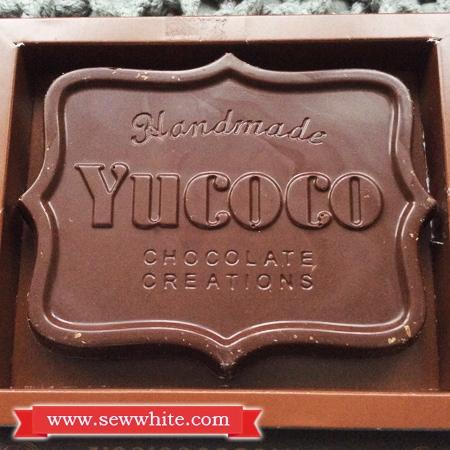 Sew White Yucoco personalised chocolate bar 2