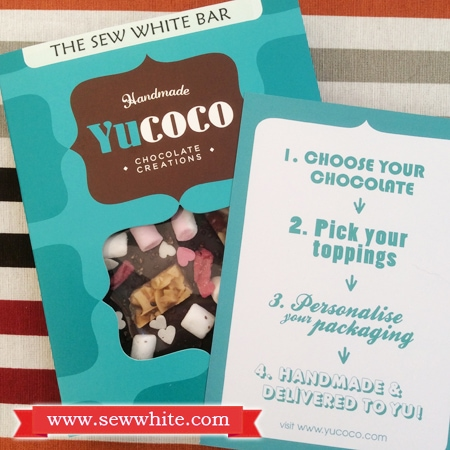 Sew White Yucoco personalised chocolate bar 5