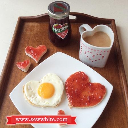 Sew White Hartley's Jam Valentine's Day breakfast 1