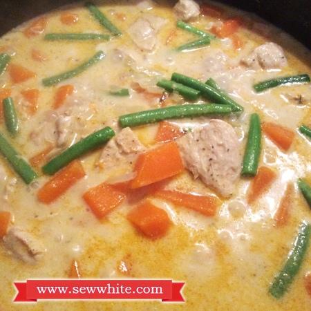 Sew White lemongrass ginger butternut squash curry 2