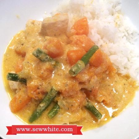 Sew White lemongrass ginger butternut squash curry 3
