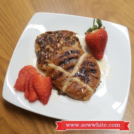 Sew White Hot Cross Bun French Toast 4