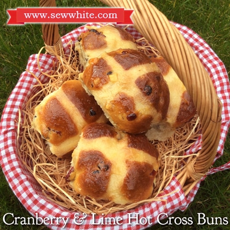 Sew White cranberry and lime hot cross buns recipe 2