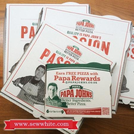Sew White Papa Johns Pizza Night 1