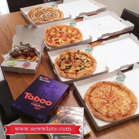 Sew White Papa Johns Pizza Night 2