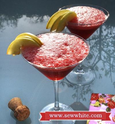 Sew White raspberry prosecco cocktails 1