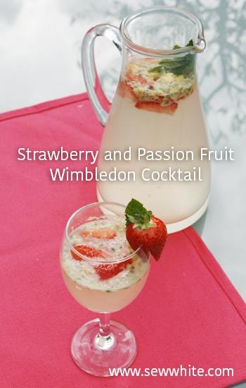 Sew White Strawberry, passion fruit wimbledon cocktail 44