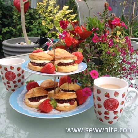 Sew White Wimbledon afternoon tea orange scones 6