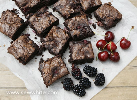 Black forest chocolate brownies Sew White 1