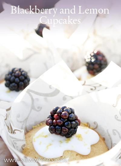 Sew White blackberry lemon cupcakes 4