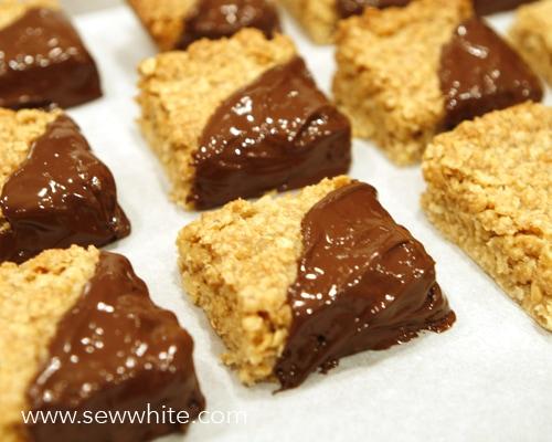 Chocolate Flapjacks recipe sew white 3