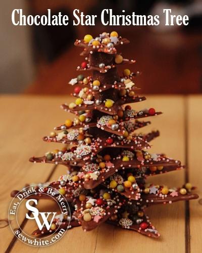 Sew White Chocolate Star Christmas Tree 6