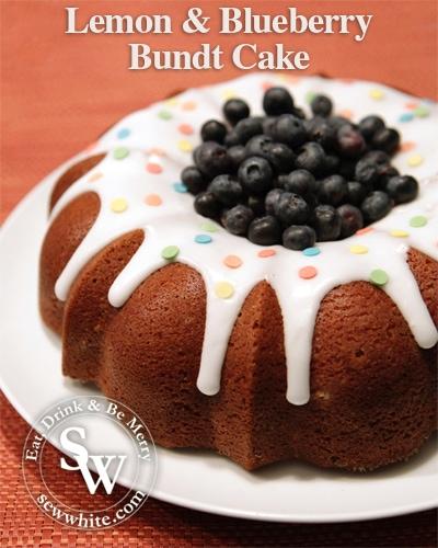 Sew White Lemon and Blueberry Bundt Cake 1