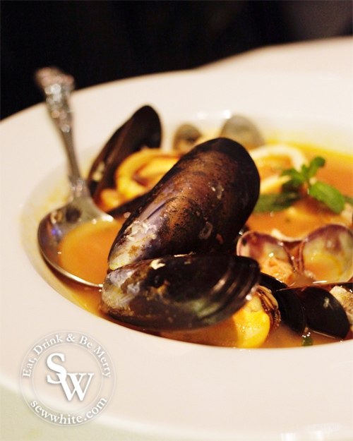 san lorenzo fish soup with large muscles