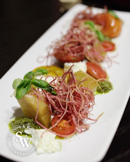 heritage salad with pesto and mozzarella