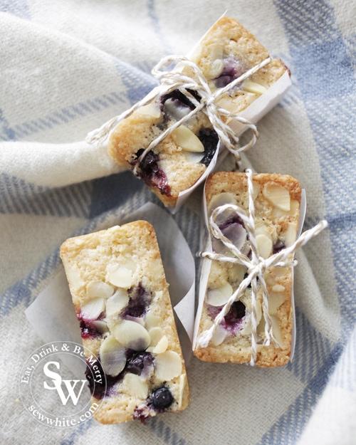 Blueberry Friand Bars