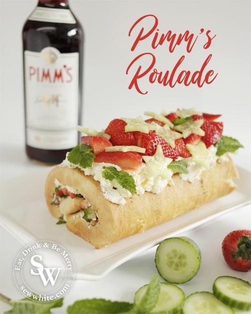 Pimm's cake Pimm's Roulade recipe