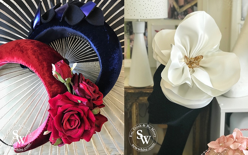 Autumn Winter examples of Bee Smith Milliners work.