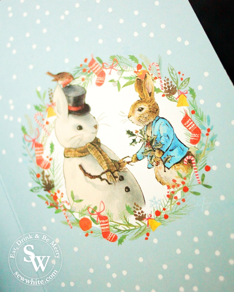 Beatrix Potter Christmas illustration with Charbonnel et Walker