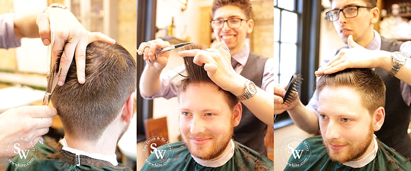 Sophisticated male grooming at the pavement barbers in Wimbledon in the Top 5 Best Gifts for Men 2019