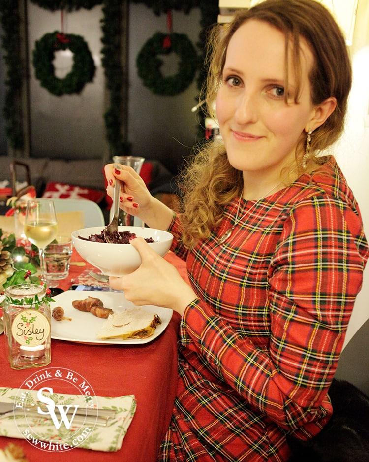 Sisley White Christmas at the Red and Green Woodland Christmas Table