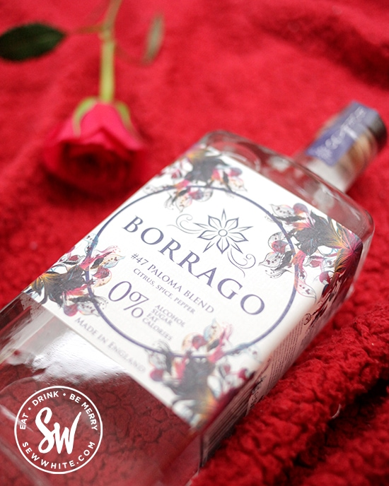 Borrago natural alcohol free spirit for Valentine's Day Gift Guide