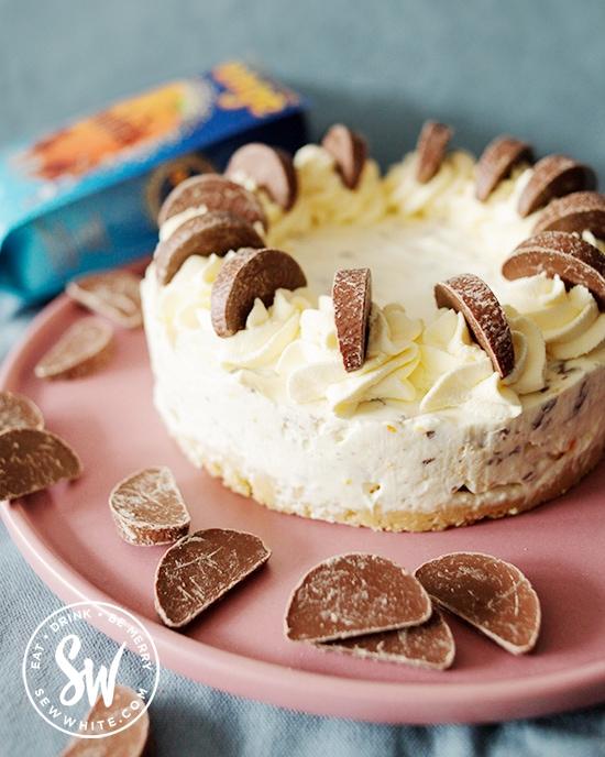 No bake Terry's chocolate orange cheesecake