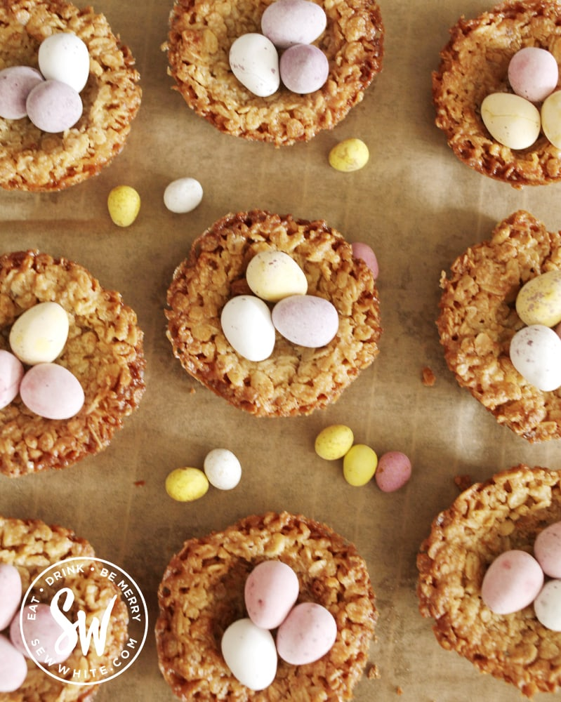 easter flapjack nests for a gluten free easter treat