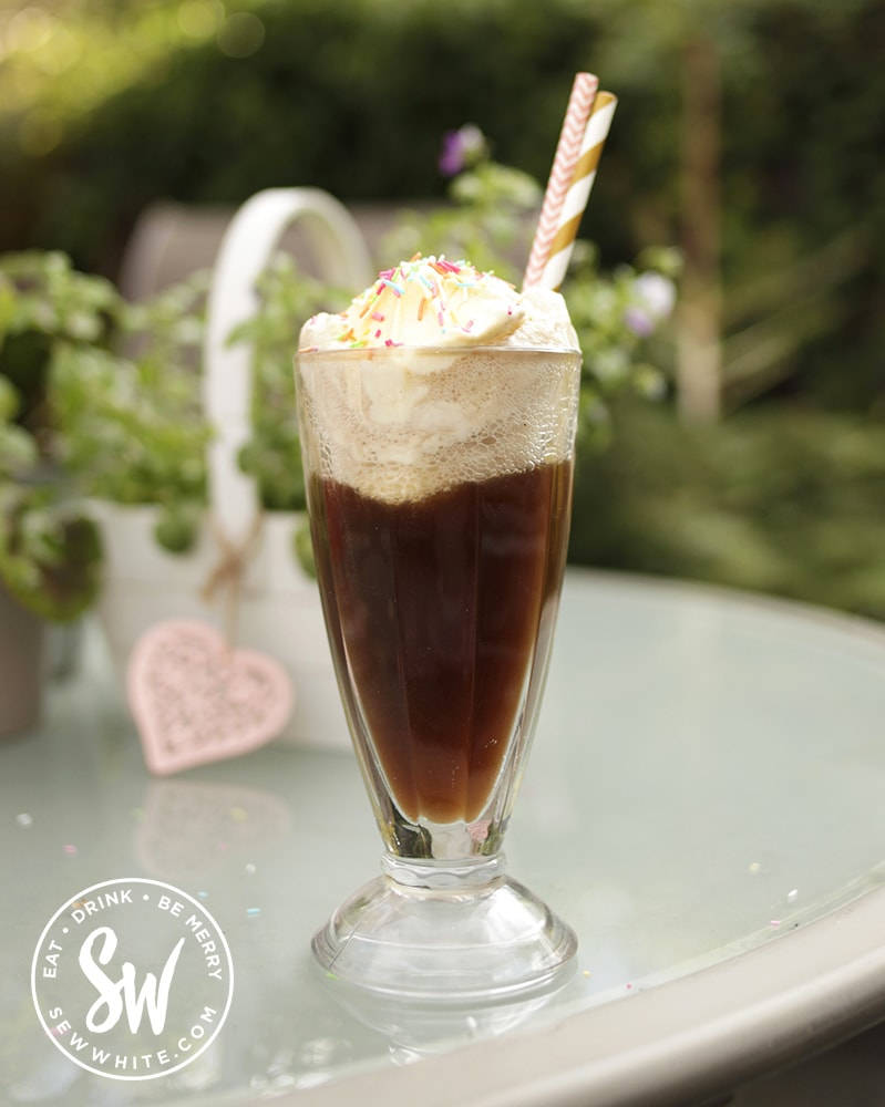 A great American treat of Coca-cola Float
