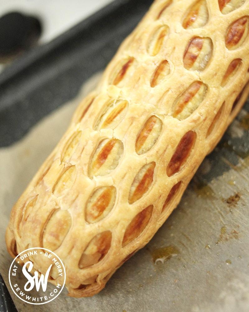 large lattice sausage roll