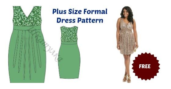 plus size elegant dress pattern