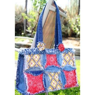 Denim Circle Rag Bag Pattern
