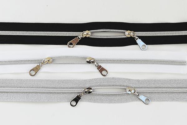 Nylon Metallic Zippers