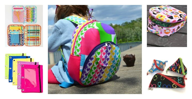 Back to School Sewing Projects - FREE Patterns & Project Ideas