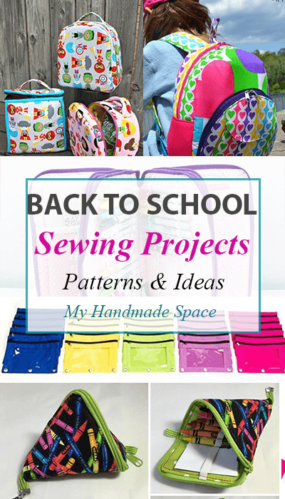 Back to School Sewing Projects: FREE sewing patterns & Ideas