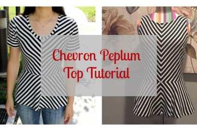 chevron peplum top tutorial