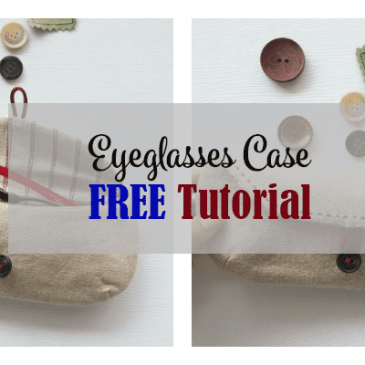 eyeglasses case free tutorial