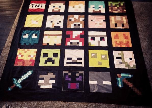 minecraft-quilt pattern