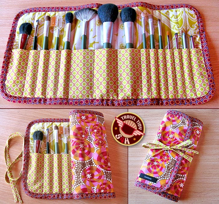 Makeup Brush Case Sewing Pattern FREE