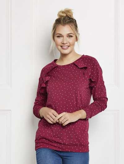rufflel tee free sewing pattern
