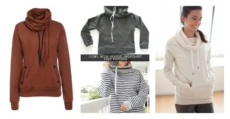 womens cowl neck swetshirt free pattern