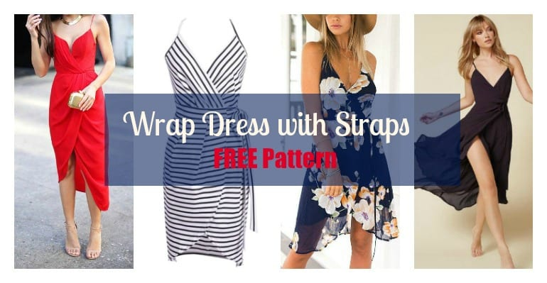 Wrap Dress with Straps – FREE pattern