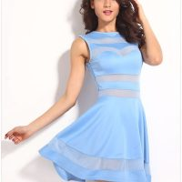 Cheap Mesh Blue Short Sexy Night Out Dresses - Online ...