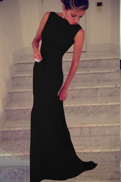 Cheap Sleeveless Long Black Prom Dresses  Online Store for Women Sexy Dresses