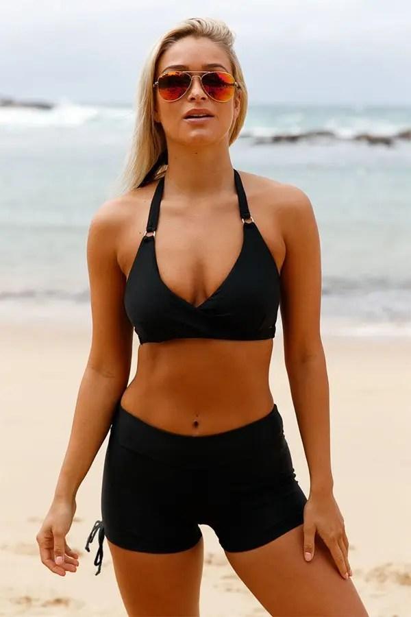 fb6d5dfcc180d2 Hualong Sexy Push Up Halter High Waist Bikini Shorts Set Online Store For  Women Sexy Dresses