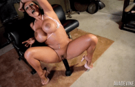 AVA DEVINE – PLAYING WITH A BLACK COCK TOY