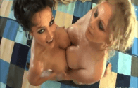 Lisa Ann VS Julia Ann Oiled Up Foursome