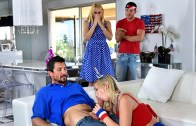 Family Strokes – Sarah Vandella, Zoey Parker  – I Pledge Allegiance To My Father Figures Cock
