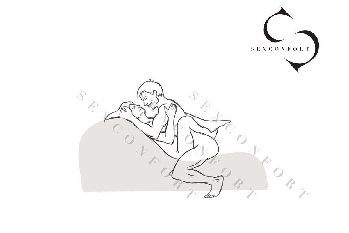 Posturas del kamasutra en el sillon tantra de Sexconfort