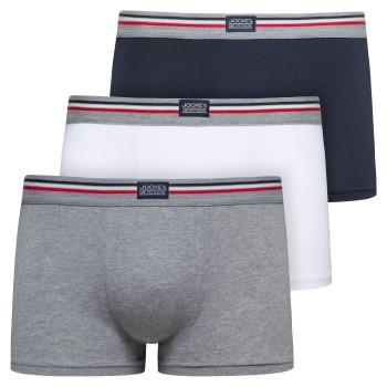 Jockey Kalsonger 3P Cotton Stretch Short Trunk Grå/Blå bomull Medium Herr